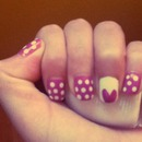 Valentine day's nails