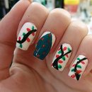 Christmas Tree + Lights Nails
