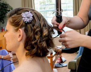 My sister Sarah's hair i did for a wedding