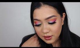Rainbow Pastel Makeup Tutorial   Morphe 25L Palette