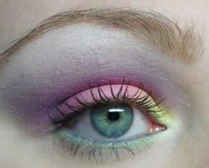 Ekka Inspired Makeup Fairy Floss Eyes - close up