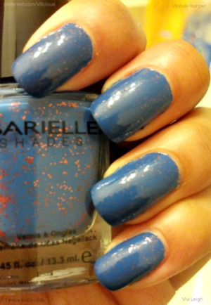 This is two coats of Barielle Falling Star.