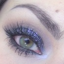 New year's Eve Party makeup - Black glitter smoky eyes