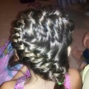 Fishtail Dutch braid