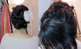 Wedding Hair Tutorial: French Braid Updo