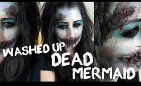 Washed-up Dead Mermaid Halloween Makeup
