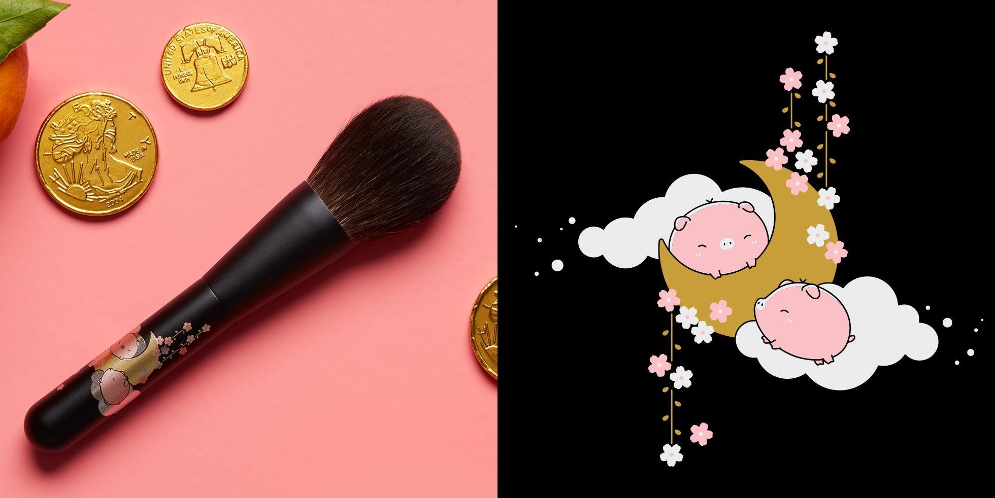 Beautylish x CHIKUDHOD Lunar New Year Brush Artwork