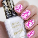 Barry M - Neon Pink & White Cracle
