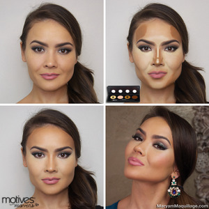 using Motives Mavens SCULPT Series Cream Contouring Palette. INFO & LINKS on my blog: http://www.maryammaquillage.com/2014/02/motives-mavens-palettes-contouring.html
