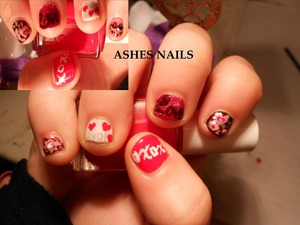 Used a lot of colors and different ideas! XOXO, Hearts, Love, Love letters, and lips!