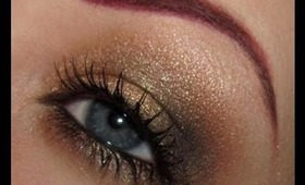 Holiday Party Gilded Bronze Makeup Tutorial