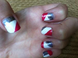 My version of geometric nails.
