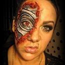 The Terminator makeup.