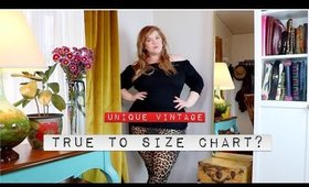 True to the Size Chart? Unique Vintage Plus Size Try On Haul