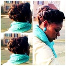 The Flat twist Roll on Natural Hair