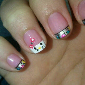 HelloKitty colorful nails :)
