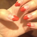 red hearts pointy nails
