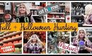 SHOP WITH ME : Fall Decor & Halloween Hunting