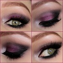 Purple&Black Christmas Look