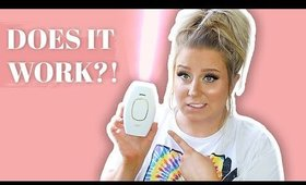 I Tried Laser Hair Removal AT HOME!! Did it work?