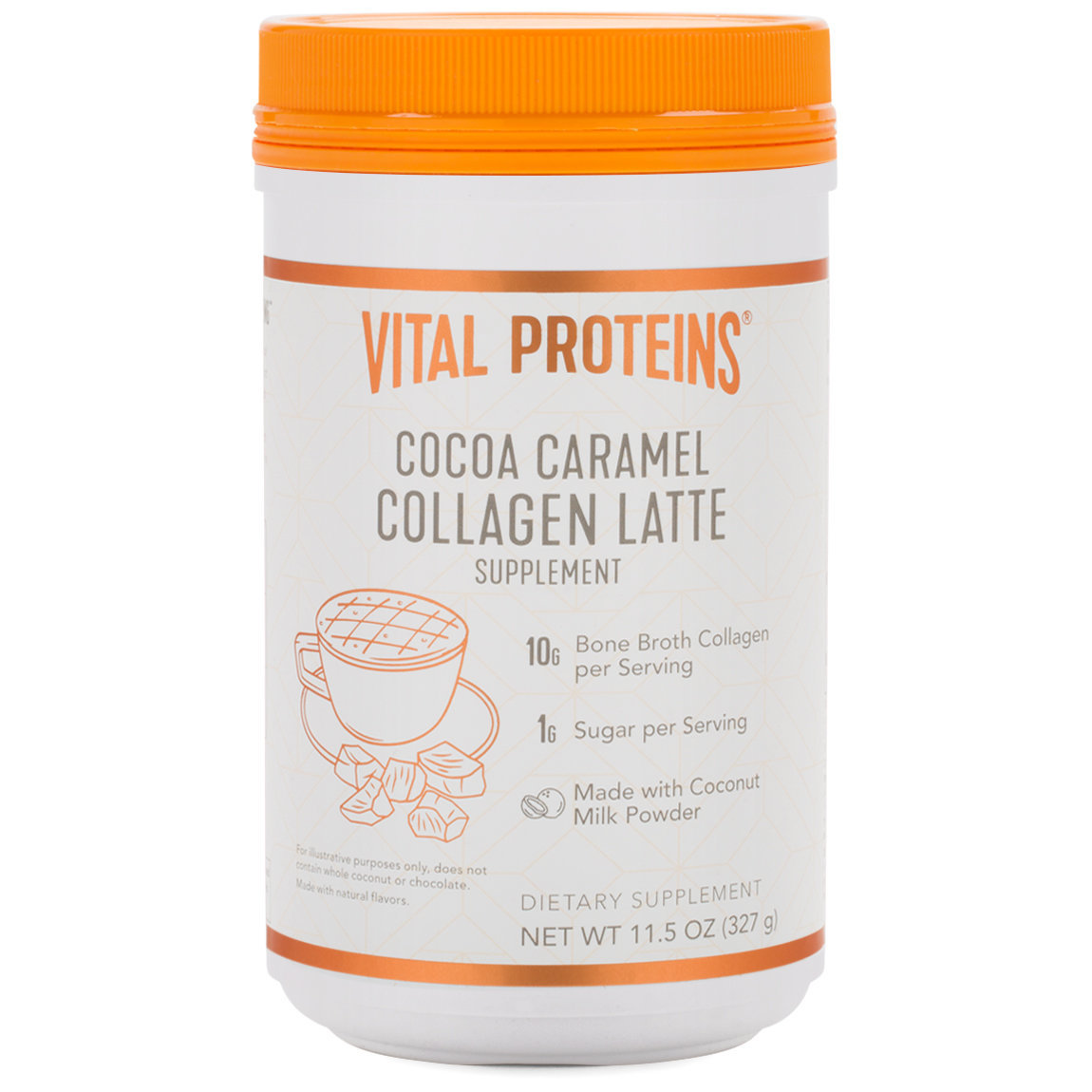Vital Proteins Collagen Latte - Cocoa Caramel product swatch.