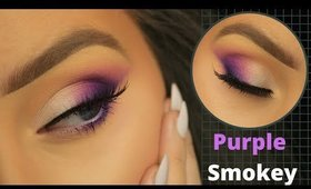 EASY PURPLE SMOKEY EYE FOR BEGINNERS | EIMEAR MCELHERON