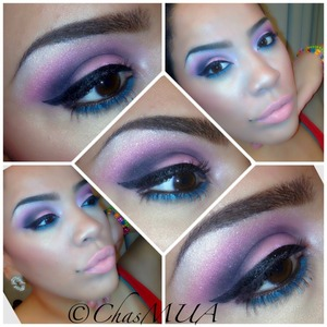 Used colors from mybeautymark cosmetis pro palette and Sephoras jumbo turquoise pencil