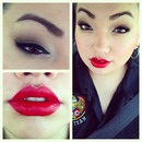 Smokey eye & Red lip