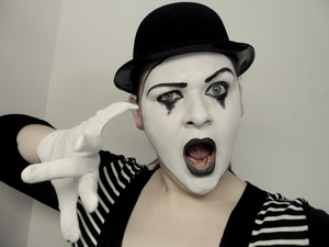 The Mime is the 3nd makeup tutorial for my 2012 Halloween series.