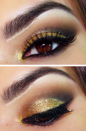 Party-ready eyes for the holiday season. How-to and more on ze blog: http://www.maryammaquillage.com/2012/12/jinglin-bling.html
