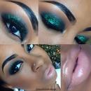 Merry Christmas Green Glitter Glam!!