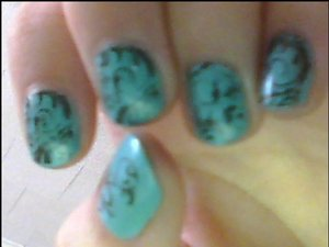 Bundle Monster Plates stamped with Revlon Hot for Chocolate over China Glaze For Audrey.