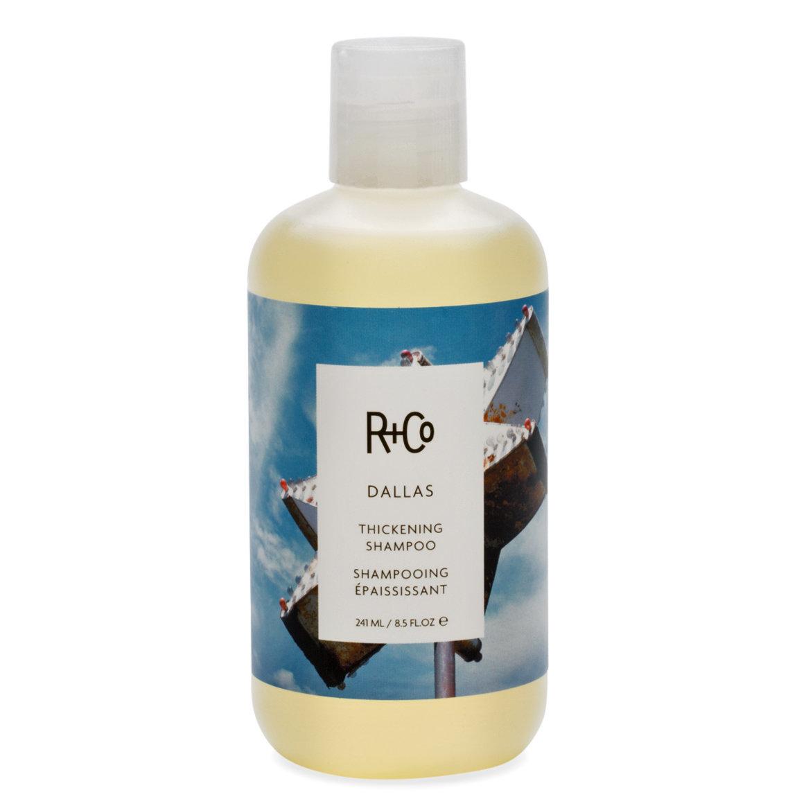 R+Co Dallas Thickening Shampoo 8.5 oz product swatch.