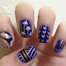 Blue, Lilac, and Gold Mix-Up
