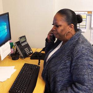 La Casa Senior Case Manager providing advocacy and support.