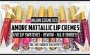 Milani Cosmetics Amore Mattallic Matte Lip Creme Swatches & Review! l All 8 shades!