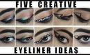5 CREATIVE EYELINER IDEAS! ♡ Makeup Eyeliner Tutorial | TheFauxChanel