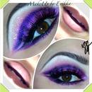Purple/pink Cut Crease