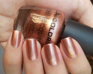 Swatch for LA Colors, Bronze Bombshell