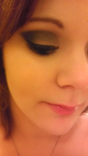 I converted a neutral day time look by using only two additional eyeshadows, creep and gunmetal by urban decay