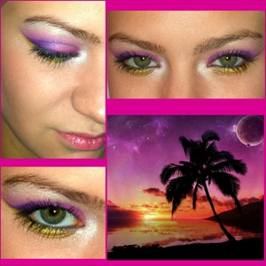 It's my mom's bday today! We love the beach and sunsets so I did this look for her :) Happy Birthday Mom!