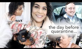 DAY BEFORE IT ALL CHANGED: HOME WORKOUT, MEET DAVID, & ERRANDS | queencarlene vlog