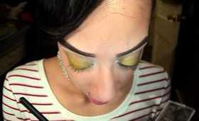 wearable golden glam tutorial