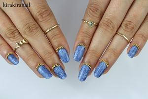 Love these nails! I have a tutorial on how to get the denim effect (not these exact nails though): http://youtu.be/AJMsLysNb-4