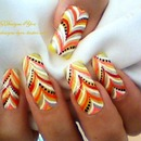 No Water marble effect nail design