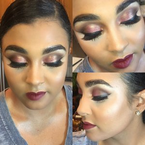 Rose Gold Look with Trial and Error