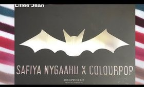 NEW Safiya Nygaard X Colourpop LUX Lipstick Swatches | Lillee Jean