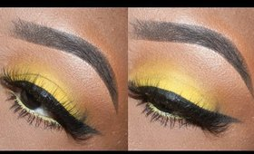 How to wear yellow eyeshadow on dark skin