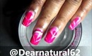 #Valentines Water Marble #Nails by Dearnatural62 on Youtube