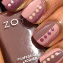 Nail art using the polishes from the Zoya Naturel collection